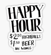 Happy Hour Drink Special Sticker