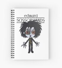 E. Scissorhands Spiral Notebook