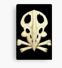 Protoceratops Skull and Crossbones Canvas Print