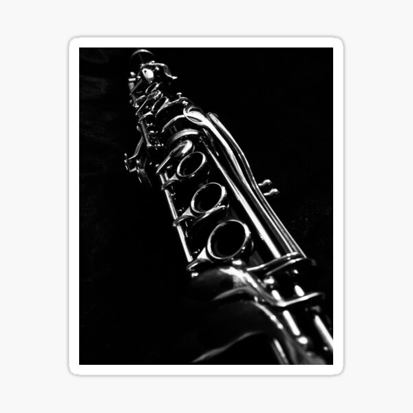 Clarinet Solo in B&W Sticker