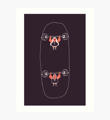 Heavyweight Skateboarding Art Print