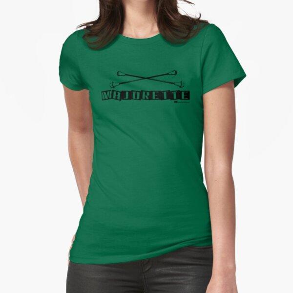 Label Me A Majorette (Black Lettering) Fitted T-Shirt