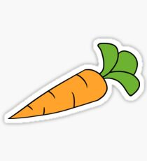 Cartoon Carrot Stickers Redbubble