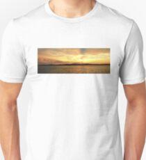 Golden Dusk Sunset.  Photo Art, Prints, Gifts. Unisex T-Shirt