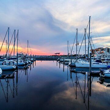 Sailboat Reflections by mechalamatthews