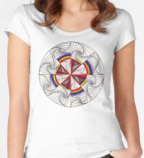 Psychedelic Rainbow Women's Fitted Scoop T-Shirt