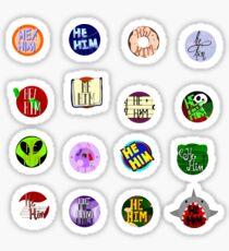 He/Him Pronoun Stickers Sticker
