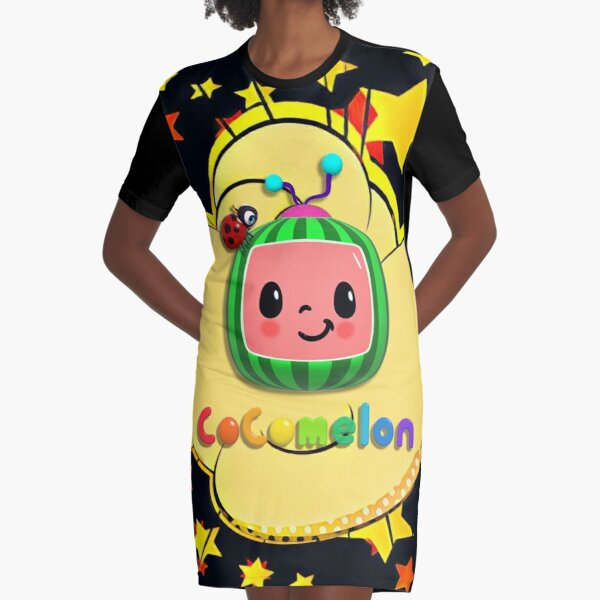 CoComelon Nursery Rhymes Kids Songs Graphic T-Shirt Dress