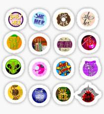 She/Her Pronoun Stickers Sticker