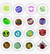 They/Them Pronoun Stickers Sticker