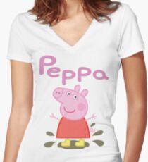 Camiseta entallada de cuello en V SIHALANG04 Peppa Pig Tour 2016