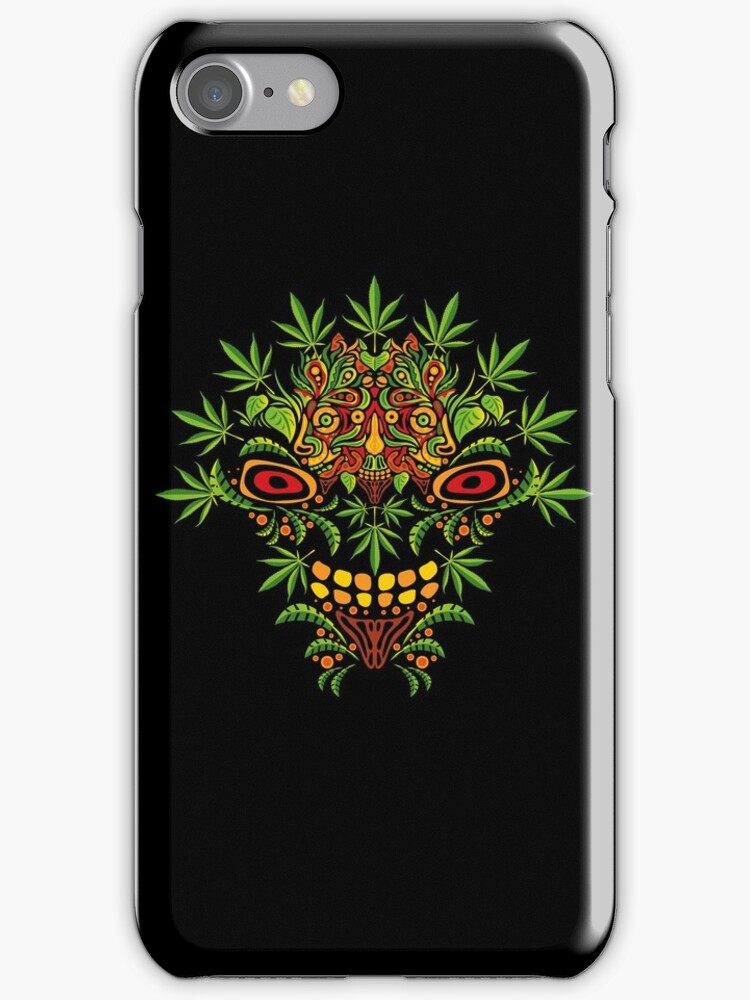 Psychedelic cannabis jungle demon by Andrei Verner