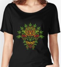 Psychedelic cannabis jungle demon Women's Relaxed Fit T-Shirt