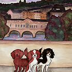Bath Cavalier King Charles Spaniels by LiseRichardson