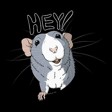 Mouse Rat - Hey Rat Blueus by rebeccadigennar