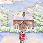 Snowy Cottage Schnauzer by LiseRichardson