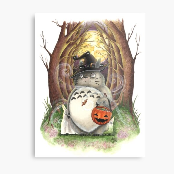 Halloween Art Trick or Treat Metal Print