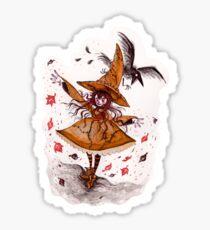 Fall Witch  Sticker