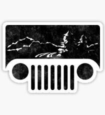 Adventuring Jeep Sticker