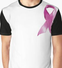 Pink Ribbon Breast Cancer Awareness - Hope Graphic T-Shirt