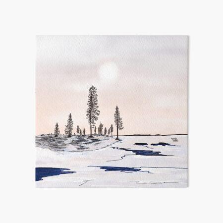 Floating ice - Lapland8seasons Art Board Print
