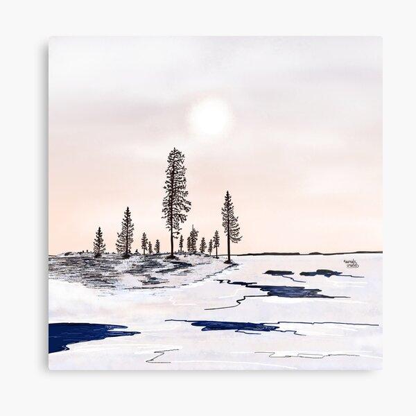Floating ice - Lapland8seasons Metal Print