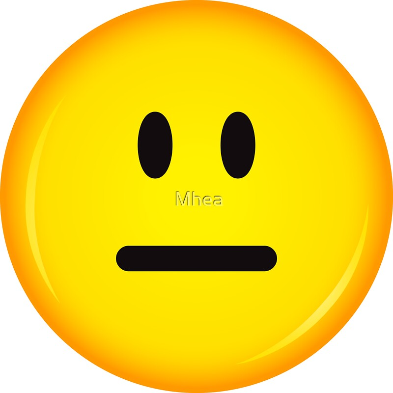 """""""Yellow, neutral ok smiley face sticker"""" Stickers by Mhea ..."""