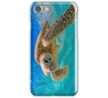 Green Turtle in Magical Water iPhone Case/Skin