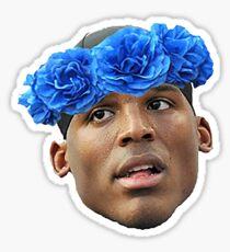 Flower Crown Cam Newton Sticker