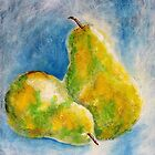 Two Pears I by Kathie Nichols