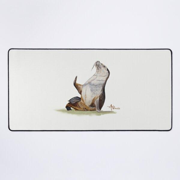 León Marino Saludando Alfombrilla de escritorio