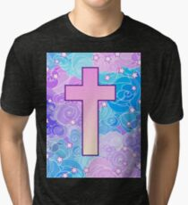 Vanilla cross Tri-blend T-Shirt