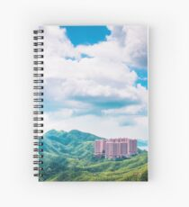 Buildings on Mountain Spiral Notebook