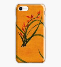 Watercolor Wild Orchid Flowers. iPhone Case/Skin