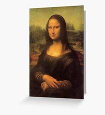 Leonardo da Vinci's Mona Lisa Greeting Card