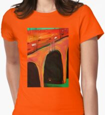 Under the bridge Homeless  Womens Fitted T-Shirt