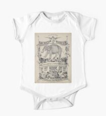 240 Humbug's American Museum On side of elephant Have you seen the on side of balcony on which a number of negro minstrels curiosities oddities of Gotham country life politics One Piece - Short Sleeve