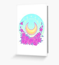 Moon and Roses Greeting Card