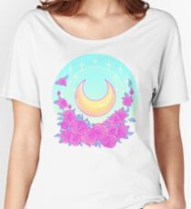 Moon and Roses Women's Relaxed Fit T-Shirt