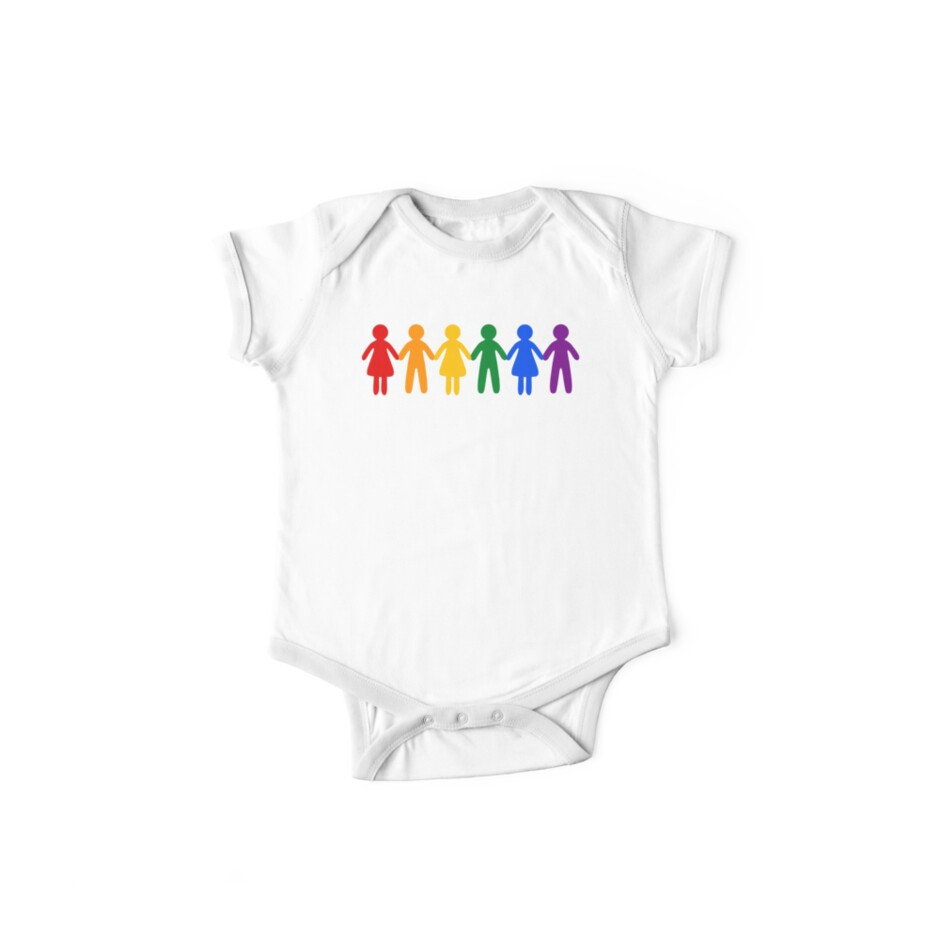 20291bc4f Rainbow People Pattern (black background)