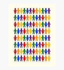 Rainbow People Pattern Photographic Print