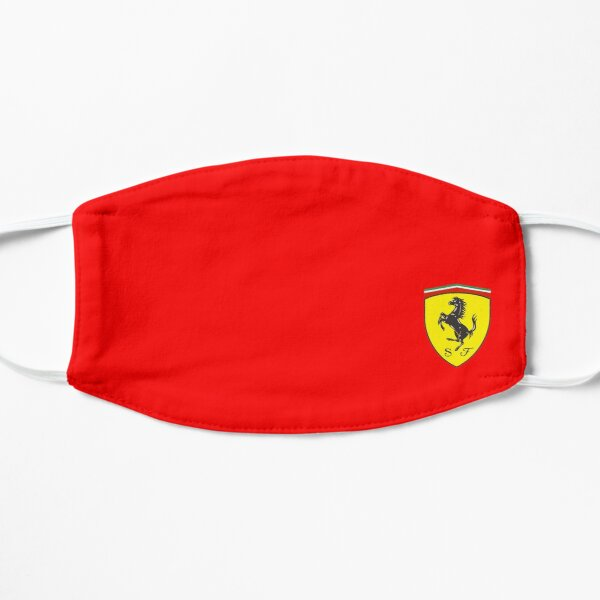 yellow red horse speed Flat Mask