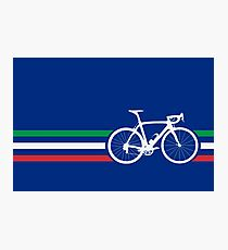 Bike Stripes Italian National Road Race v2 Photographic Print