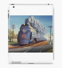 On the level crossing 1950. iPad Case/Skin