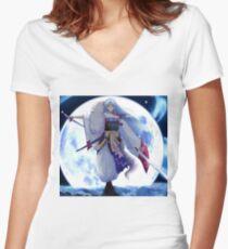 Sesshomaru  Women's Fitted V-Neck T-Shirt