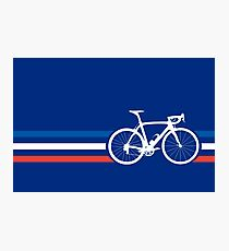 Bike Stripes French National Road Race v2 Photographic Print