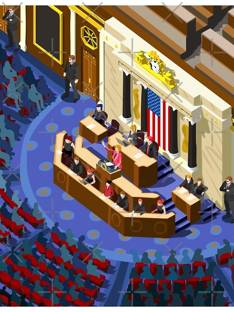 Election US Congress Hall by aurielaki