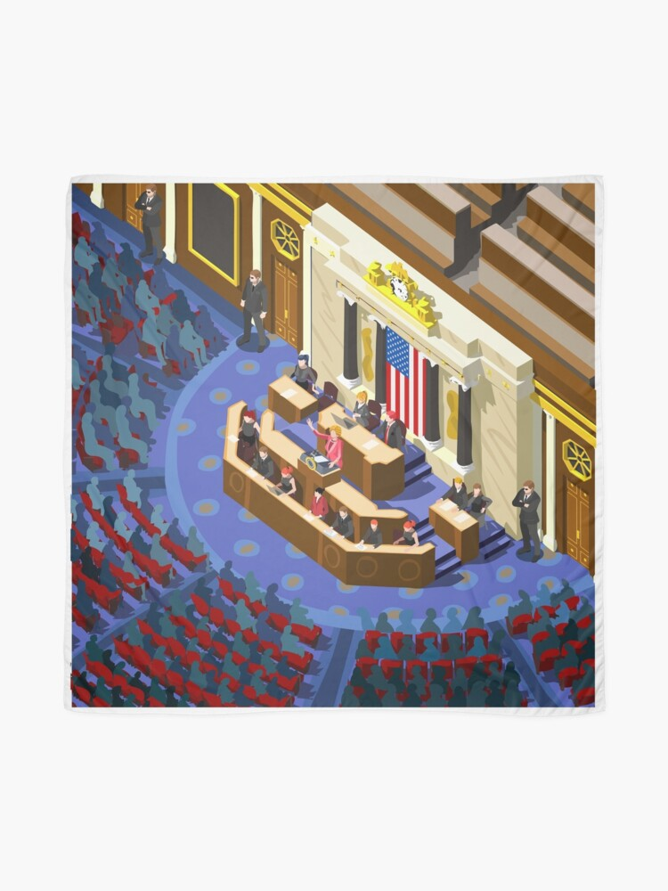 Alternate view of Election US Congress Hall Scarf