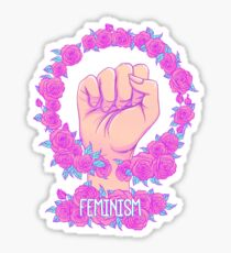Feminism and Roses Sticker