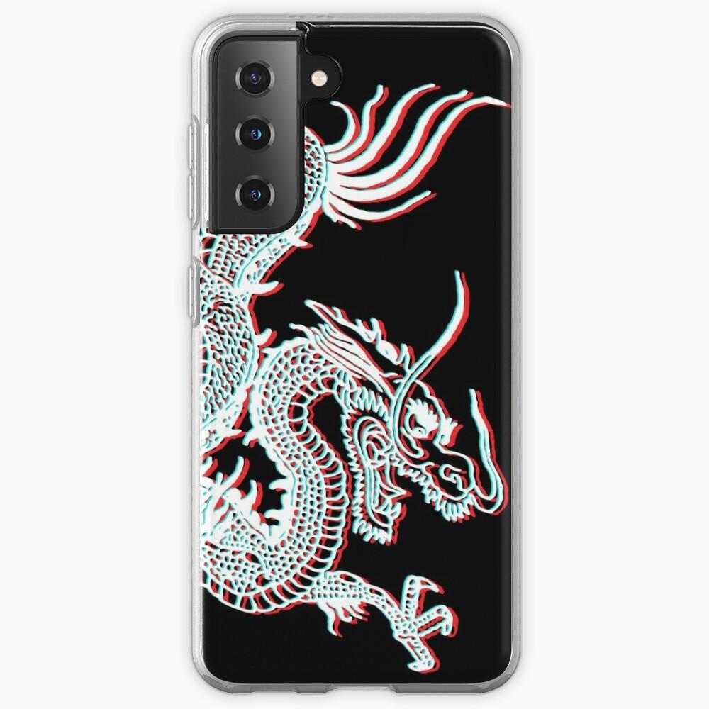 Chinese Dragon Glitch Case & Skin for Samsung Galaxy